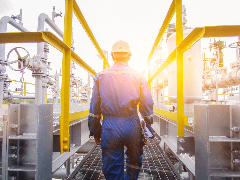 Person Walking Petrochemicals Plans